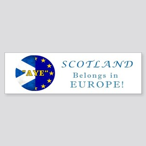 Ecosse Together With Europe Sticker (Bumper)