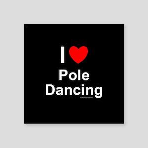 """Pole Dancing Square Sticker 3"""" x 3"""""""