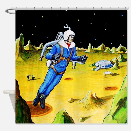 ROCKET BELT JET PACK Shower Curtain