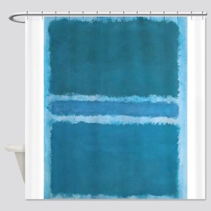 ROTHKO_SHADES OF BLUE Shower Curtain