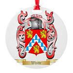 Whitte Round Ornament
