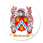 Whitte Round Car Magnet