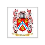 Whitte Square Sticker 3