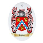 Whitte Oval Ornament