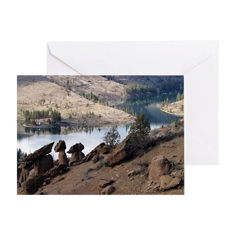 Balancing Rocks of Oregon Greeting Card