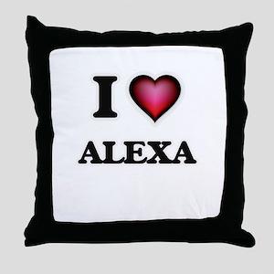 I Love Alexa Throw Pillow