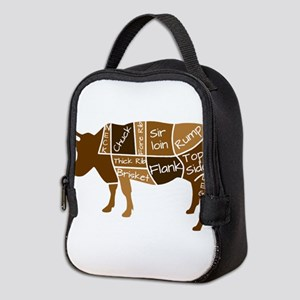 Butcher Diagram - Beef - Labele Neoprene Lunch Bag