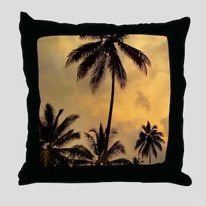 Photo 11 Palm Trees Throw Pillow