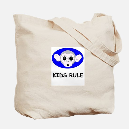 LOVE MY PARENTS/KIDS RULE Tote Bag
