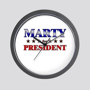 MARTY for president Wall Clock