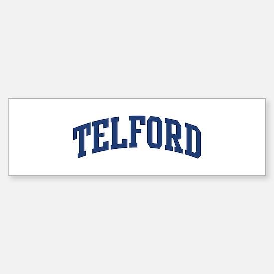 TELFORD design (blue) Bumper Bumper Bumper Sticker