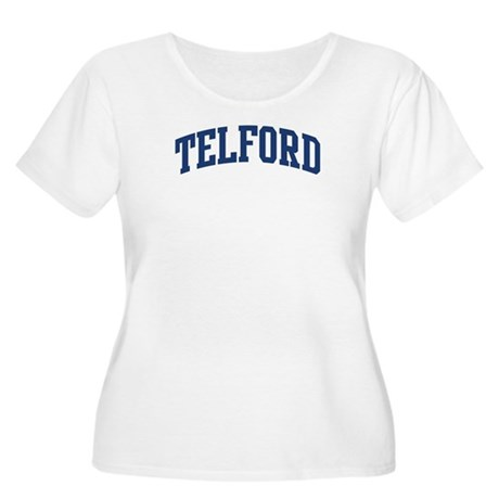 TELFORD design (blue) Women's Plus Size Scoop Neck