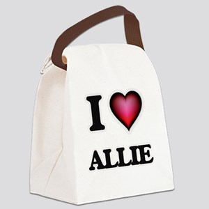 I Love Allie Canvas Lunch Bag