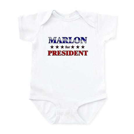 MARLON for president Infant Bodysuit