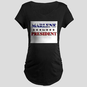 MARLENE for president Maternity Dark T-Shirt