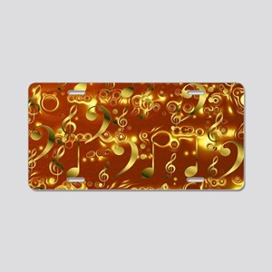 gold note Aluminum License Plate