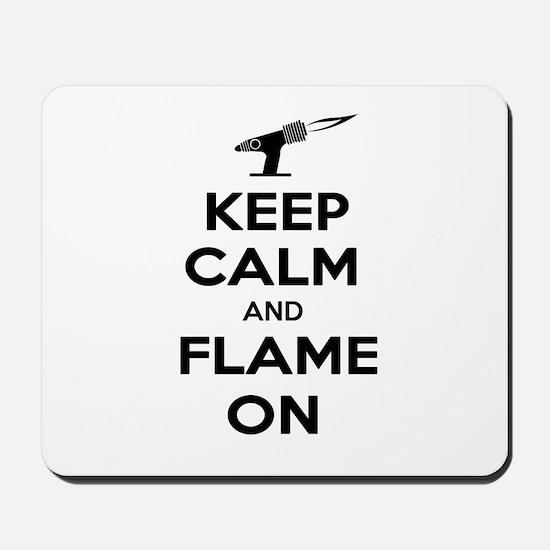 KeepCalmFlameOnBlk Mousepad