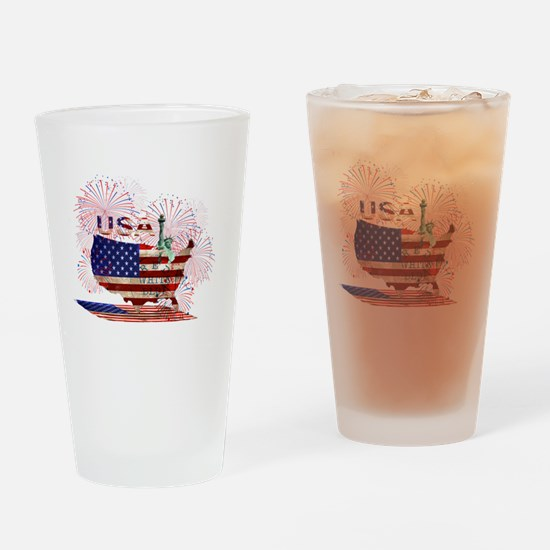 Cute Statue liberty Drinking Glass