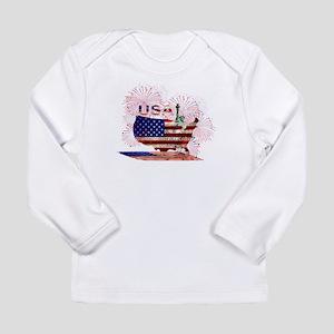 USA FIREWORKS STARS STRIPES LA Long Sleeve T-Shirt