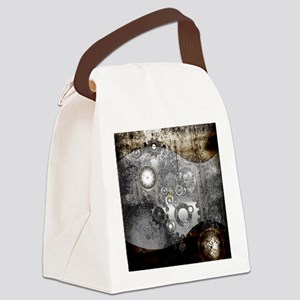 Steampunk, clocks and gears Canvas Lunch Bag