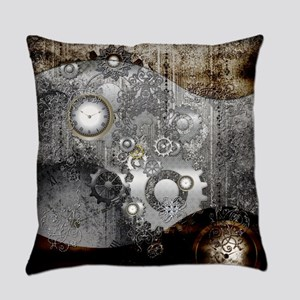 Steampunk, clocks and gears Everyday Pillow