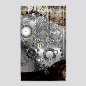 Steampunk, clocks and gears Area Rug