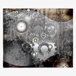 Steampunk, clocks and gears King Duvet