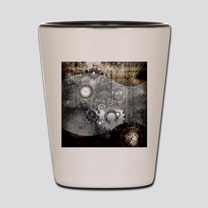 Steampunk, clocks and gears Shot Glass