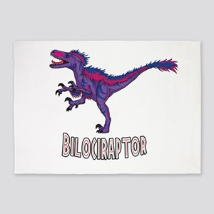 Bi-Lociraptor Text 5'x7'Area Rug