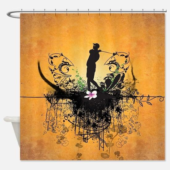 Sport, golfer Shower Curtain