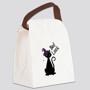 Bad Luck Cat Canvas Lunch Bag