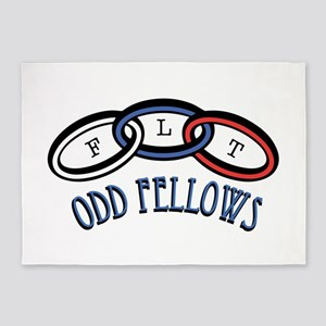 Odd Fellows 5'x7'Area Rug