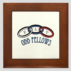 Odd Fellows Framed Tile