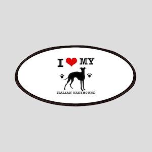I Love My Italian Greyhound Patch