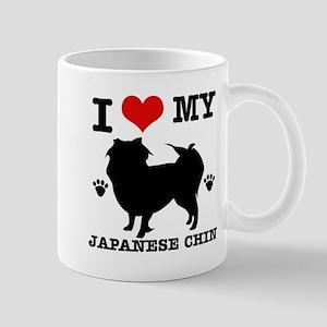 I Love My Japanese Chin Mug