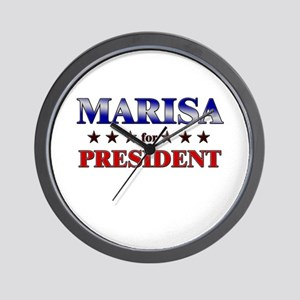 MARISA for president Wall Clock
