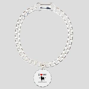 I Love My Norwegian Elkh Charm Bracelet, One Charm