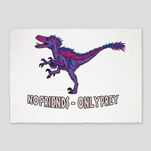 Bilociraptor - No Friends Only Prey 5'x7'Area Rug