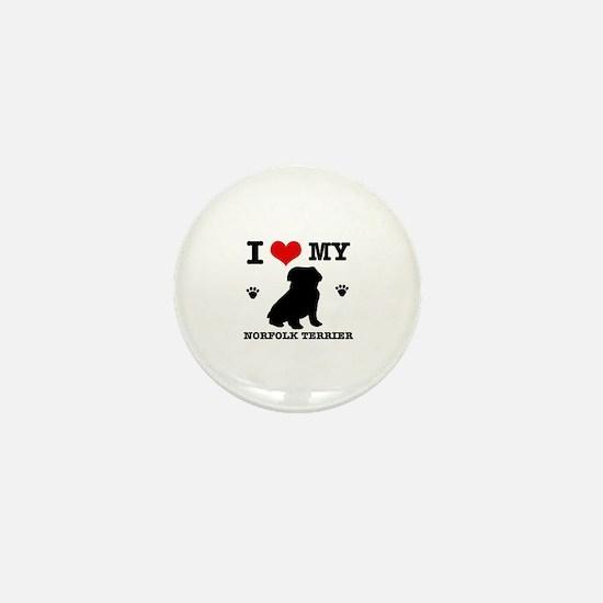 I Love My Norfolk Terrier Mini Button