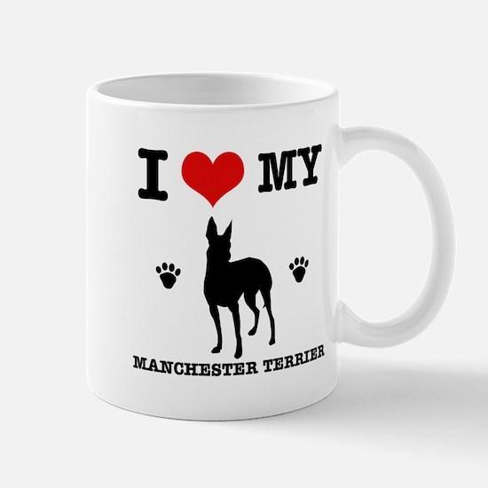 I Love My Manchester Terrier Mug