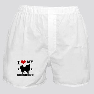 I Love My Keeshond Boxer Shorts