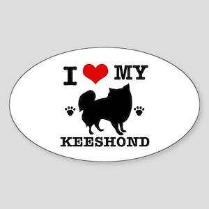 I Love My Keeshond Sticker (Oval)