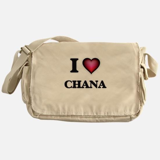 I Love Chana Messenger Bag