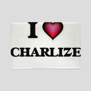 I Love Charlize Magnets