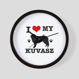 I Love My Kuvasz Wall Clock