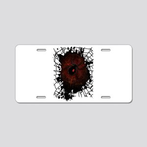 Black Widow Aluminum License Plate