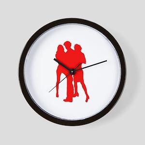Blond girls Wall Clock