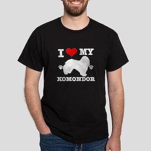 I Love My Komondor Dark T-Shirt