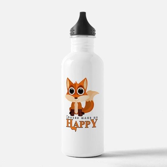 Cute Foxes Water Bottle