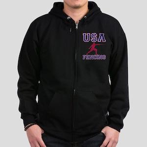 USA Fencing Zip Hoodie (dark)